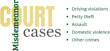 misdemeanor court cases